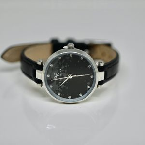 Elegant Black and SilverTime Piece